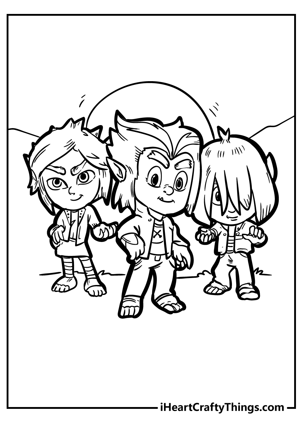 pj masks characters coloring pages free printable