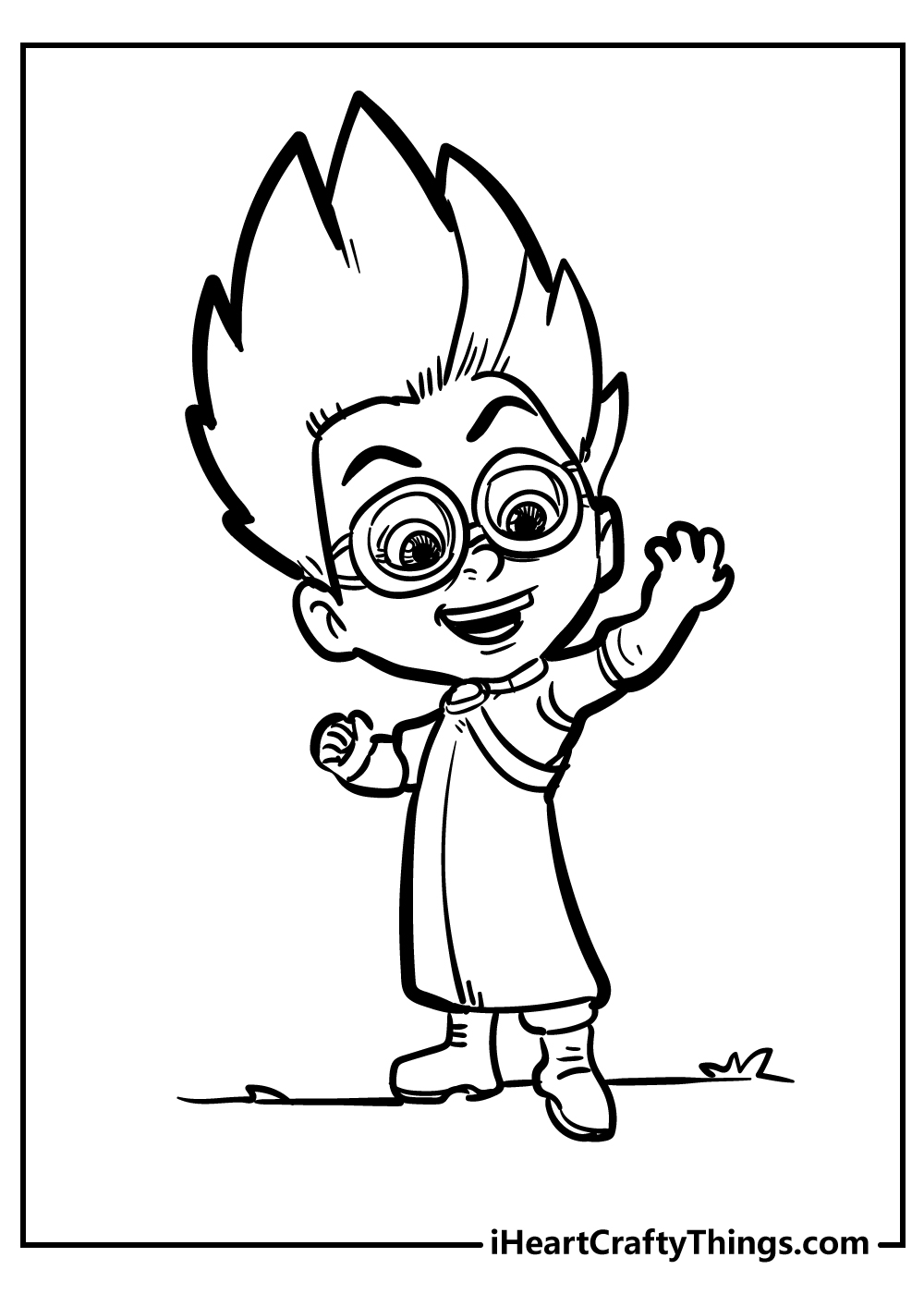 romeo pj masks coloring pages free print out