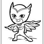 pj masks free coloring images