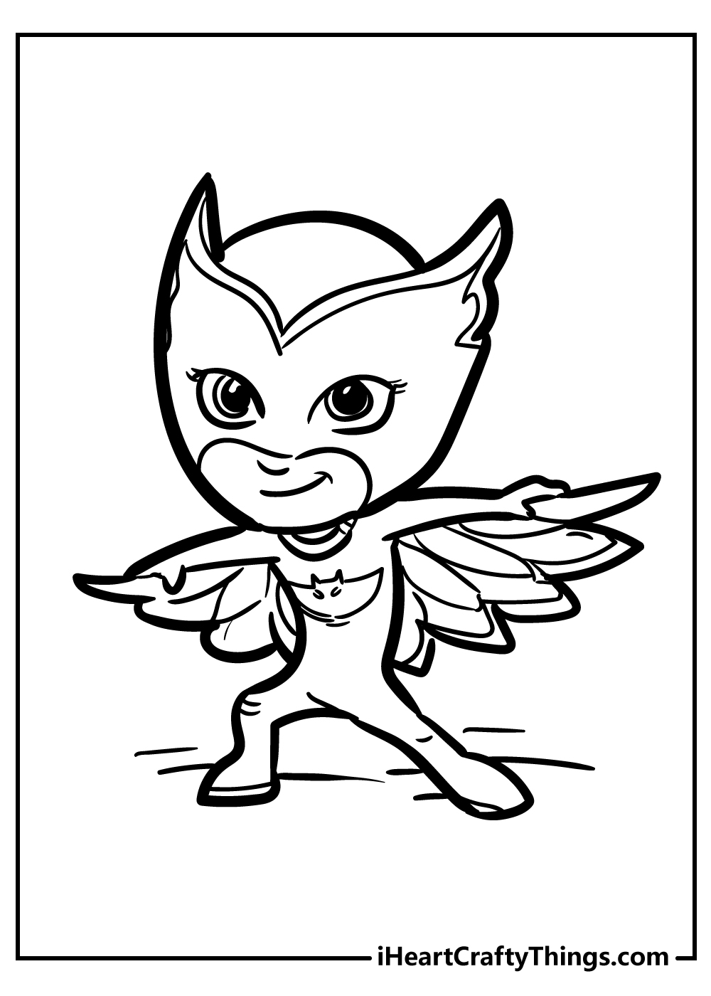 easy pj owlette coloring pages free printable