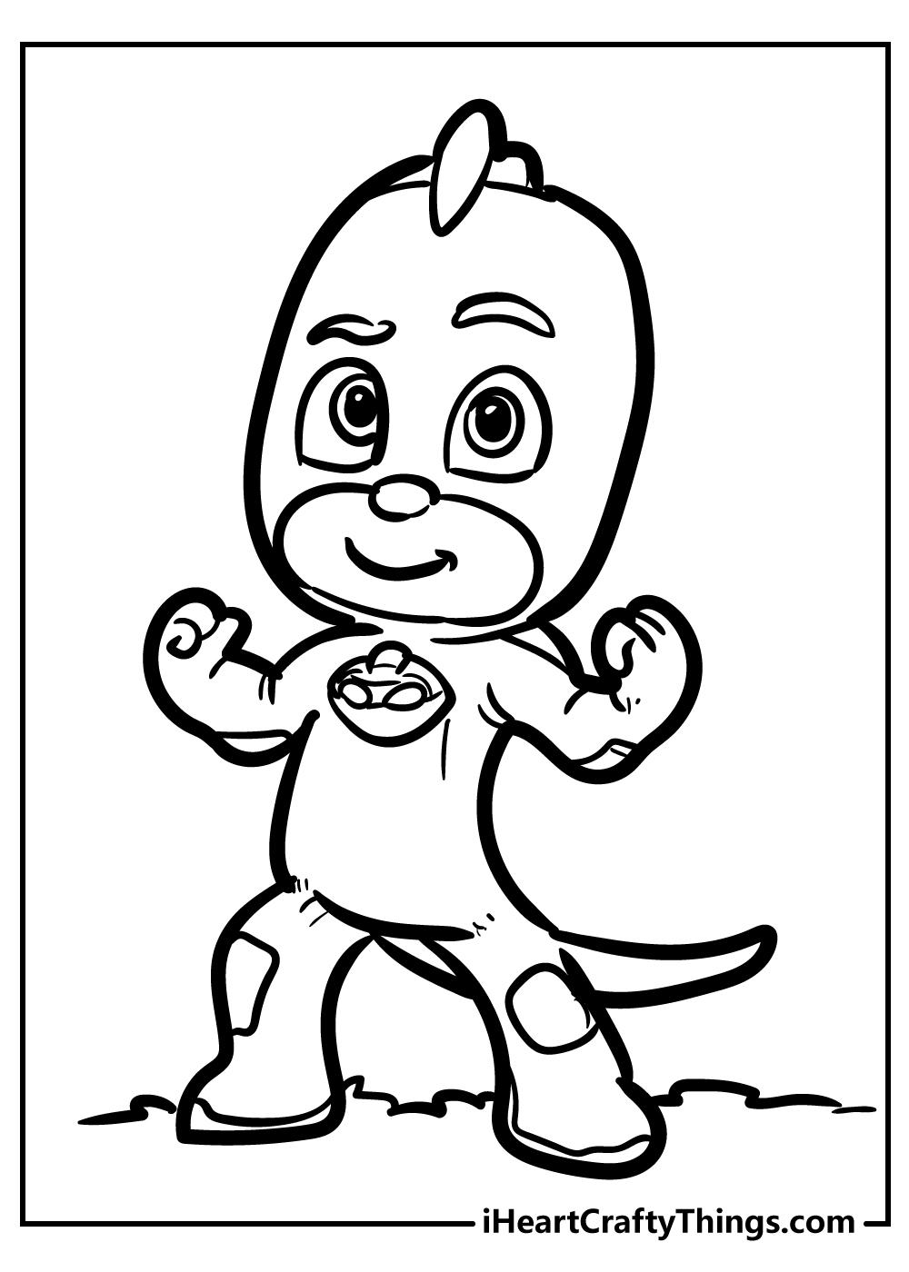 gekko pj coloring pages free printable