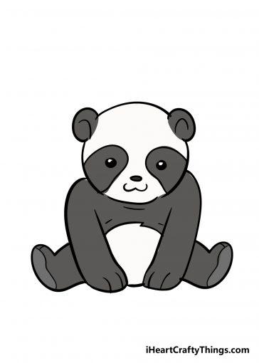 how to draw panda image