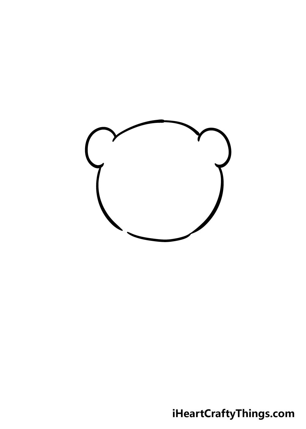 panda drawing step 1