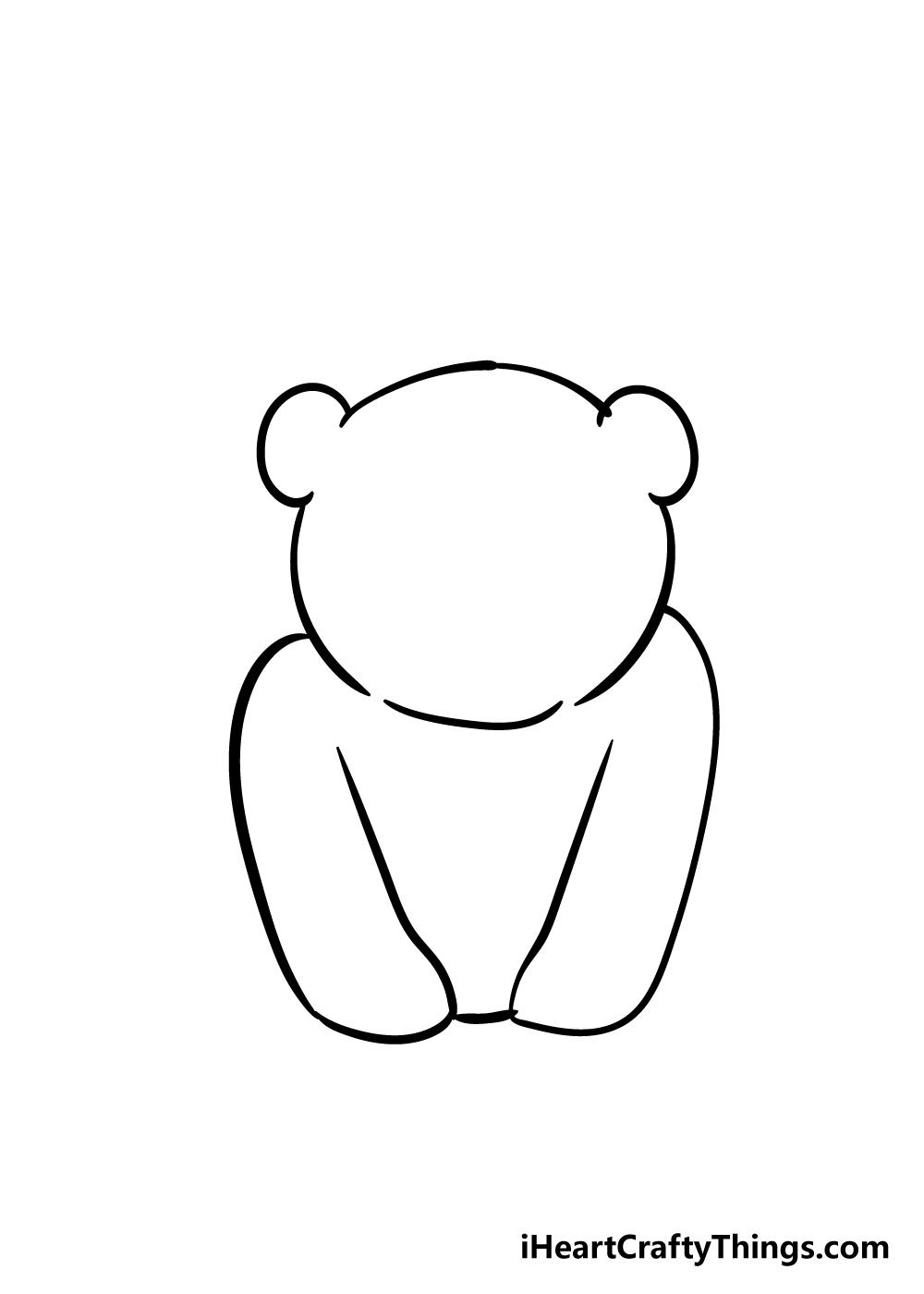 panda drawing step 2
