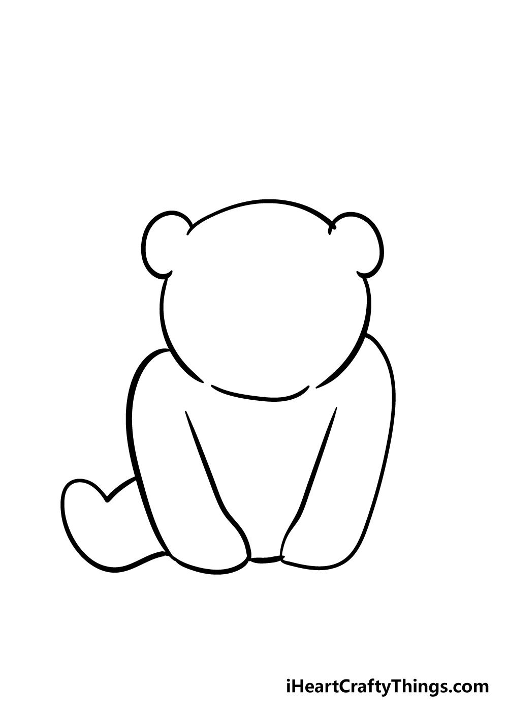 panda drawing step 3