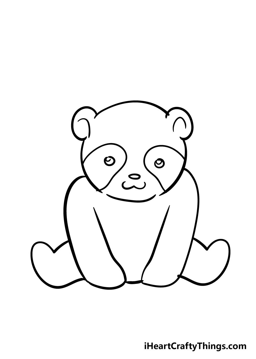 panda drawing step 5