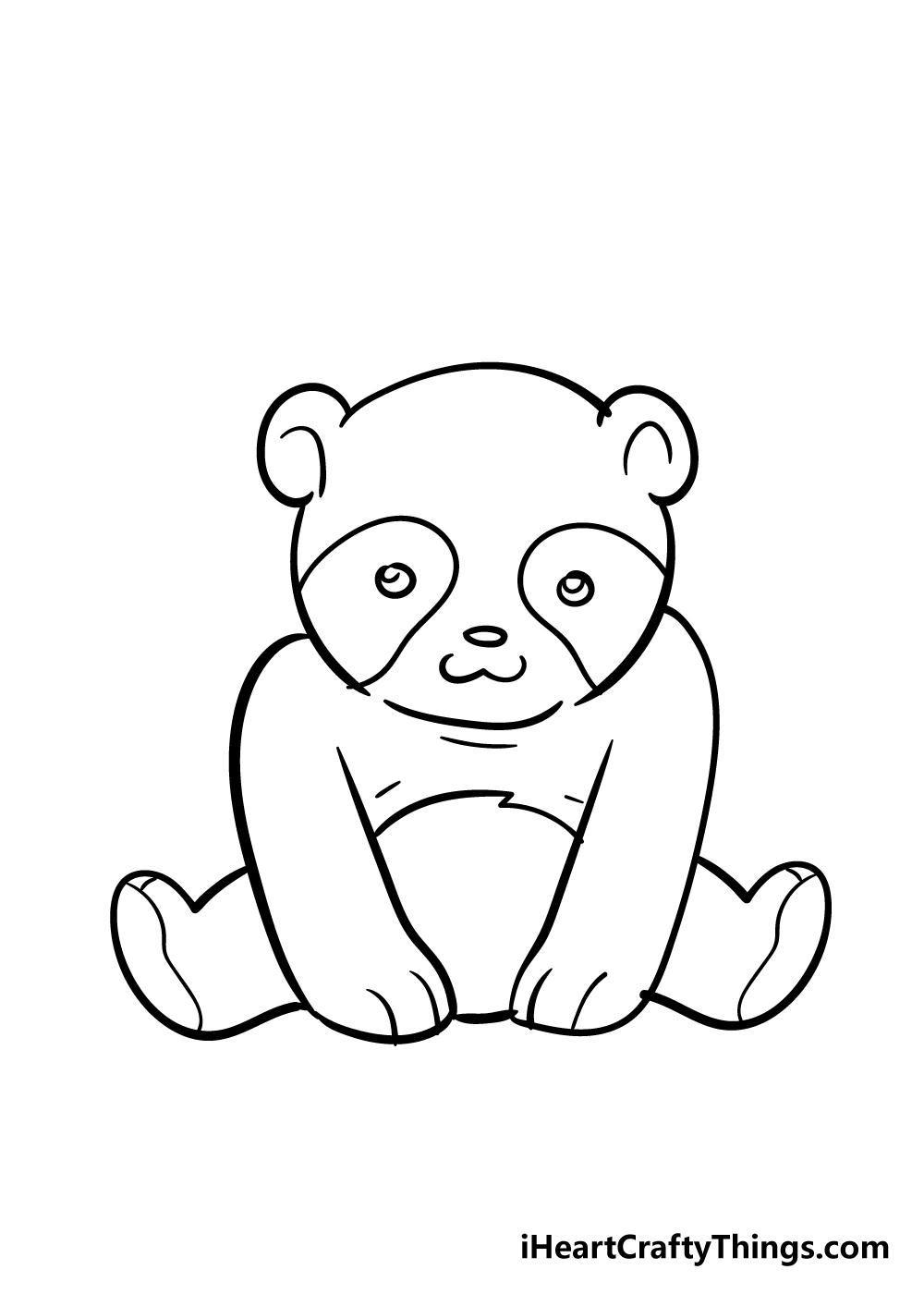 panda drawing step 6