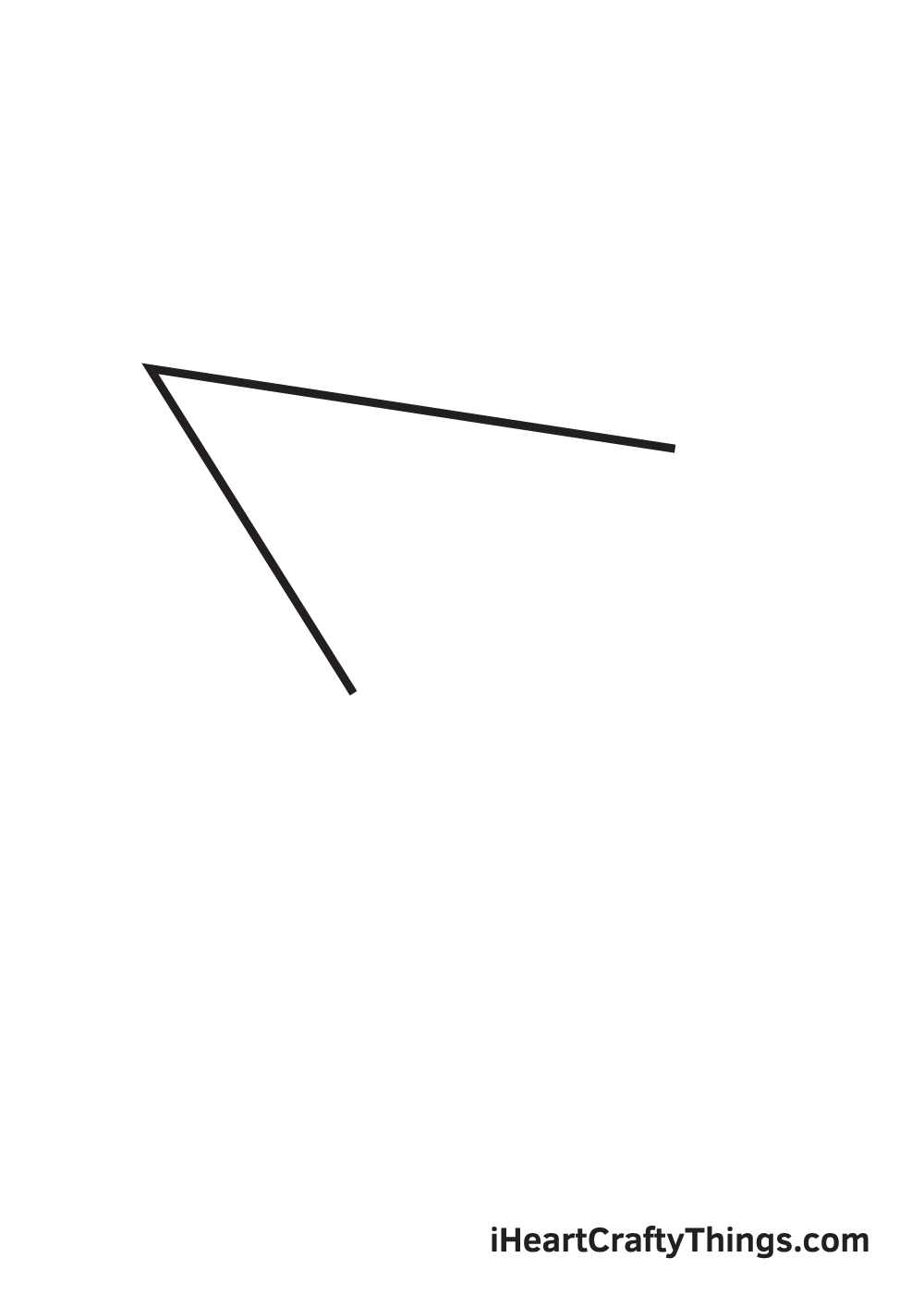 paper airplane drawing step 2