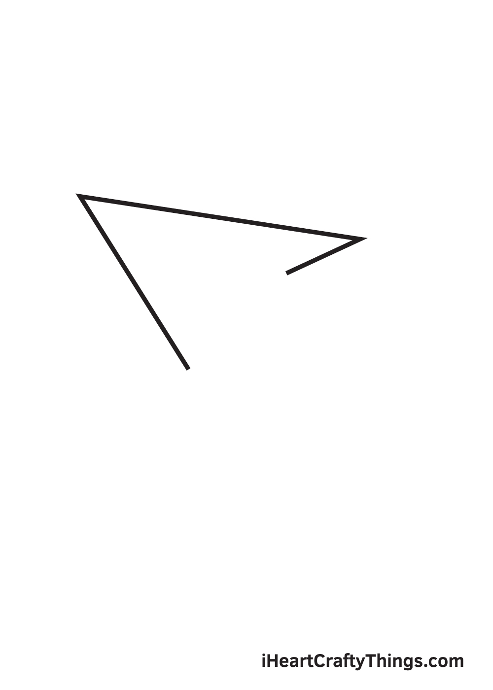 paper airplane drawing step 3