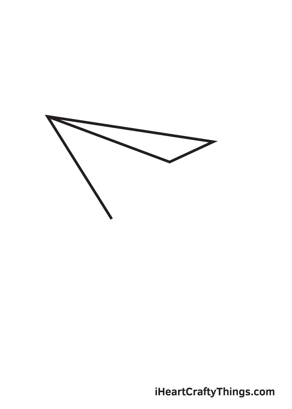 paper airplane drawing step 4