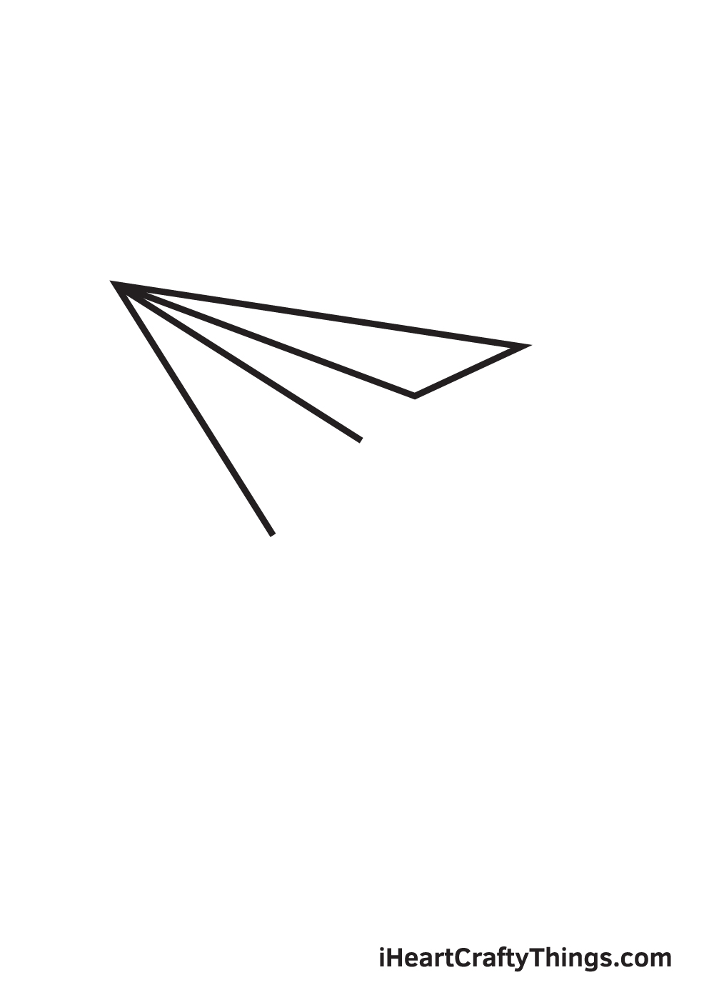 paper airplane drawing step 5