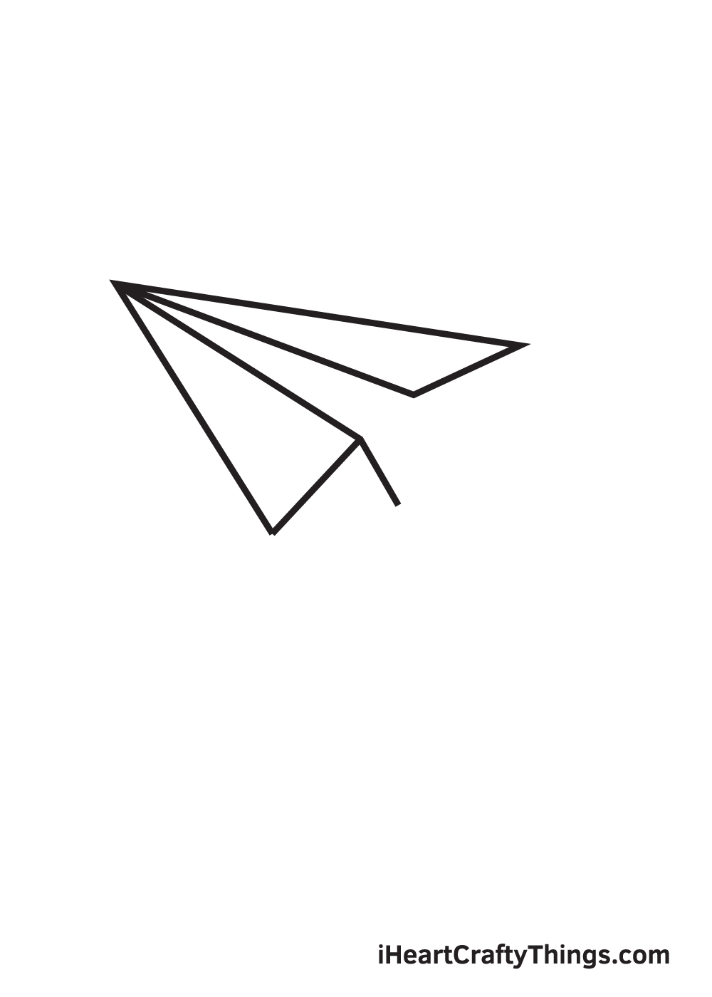 paper airplane drawing step 7