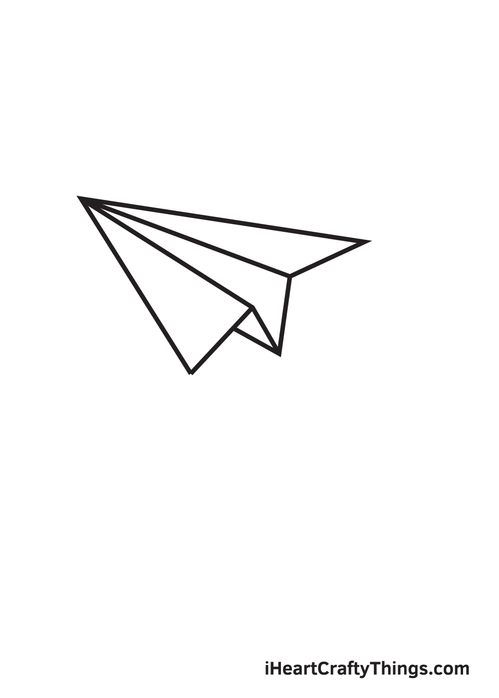 paper airplane drawing step 8
