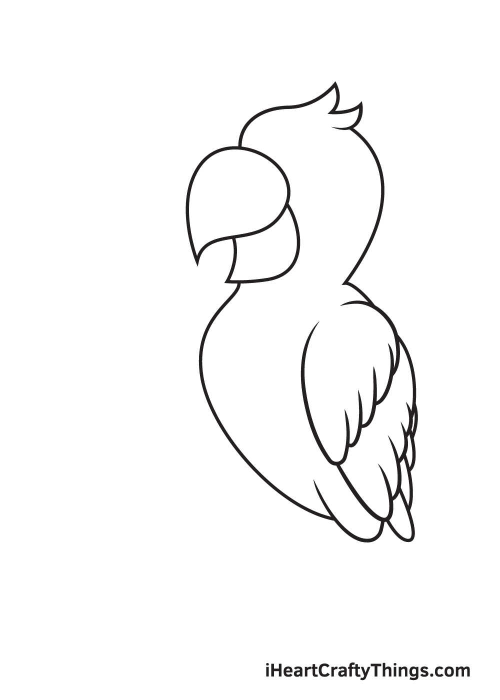 parrot drawing step 5