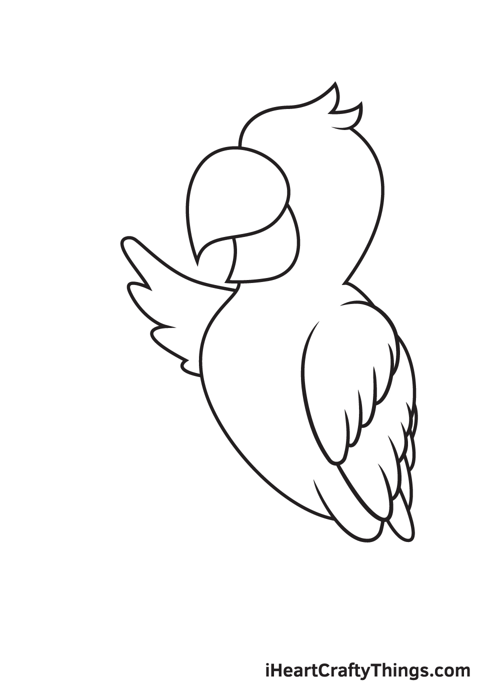 parrot drawing step 6