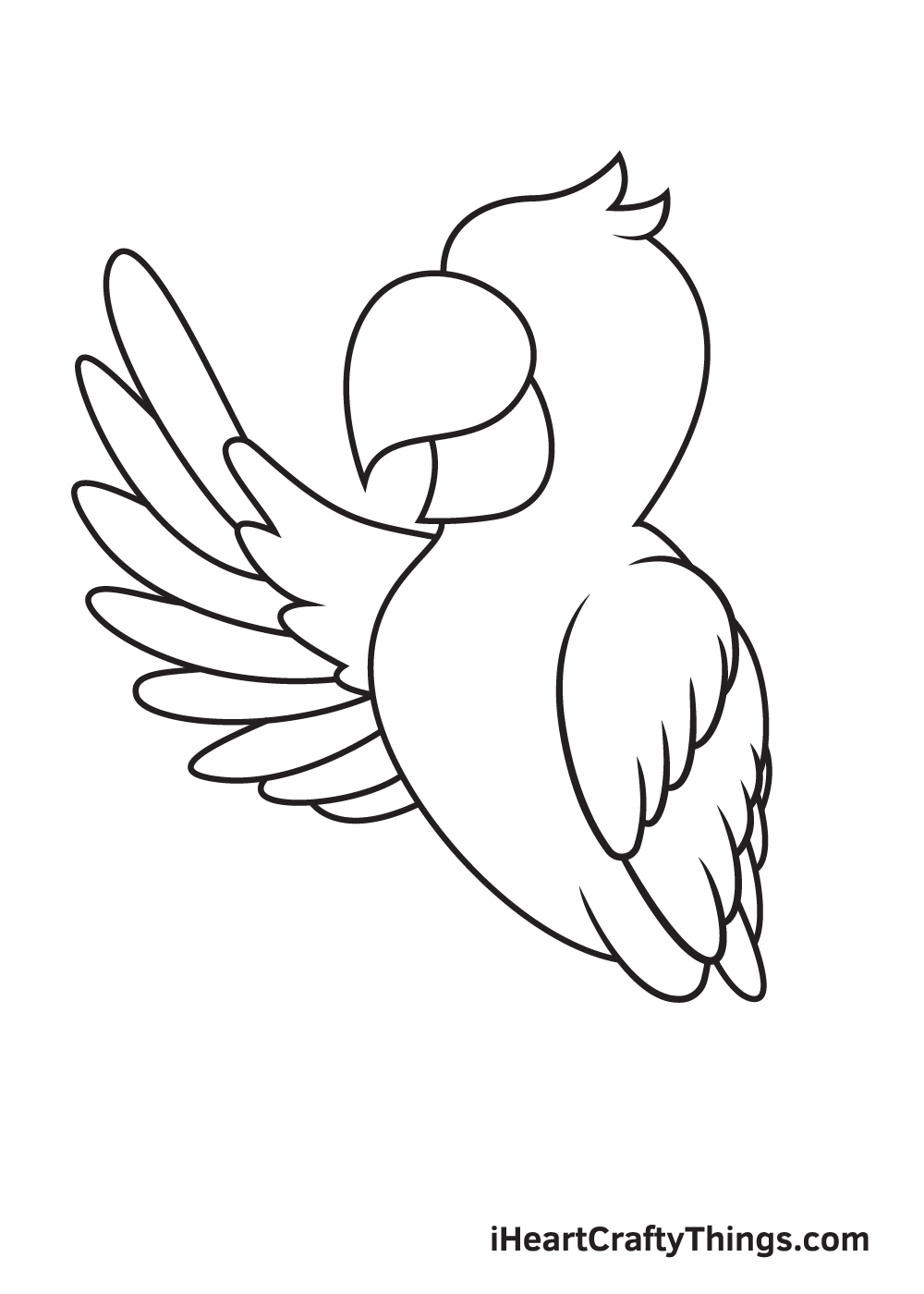 parrot drawing step 7