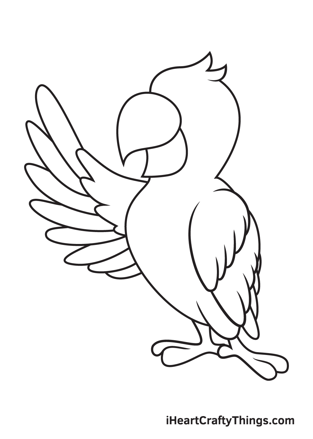 parrot drawing step 8