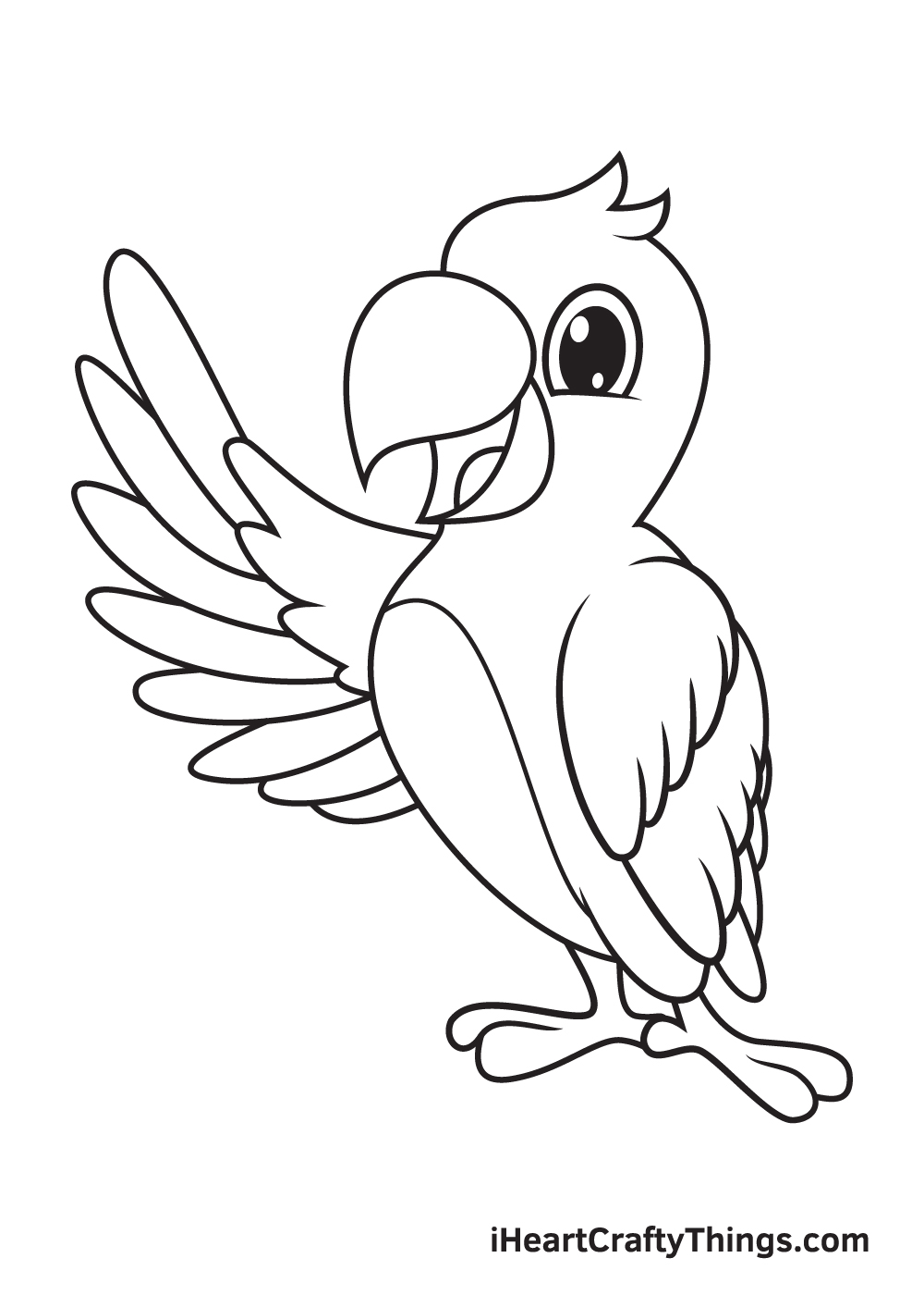 parrot drawing step 9