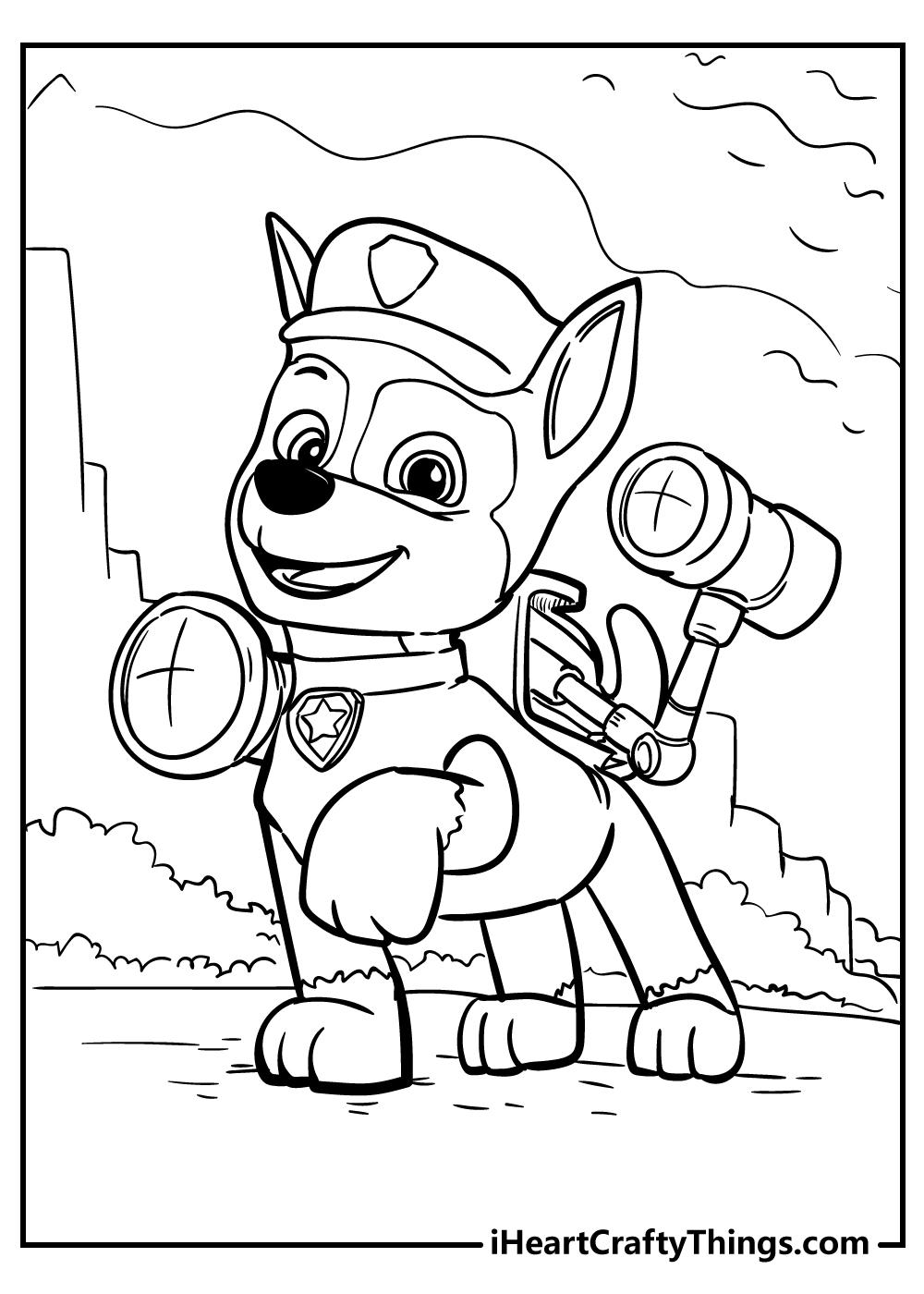 paw patrol printable coloring images