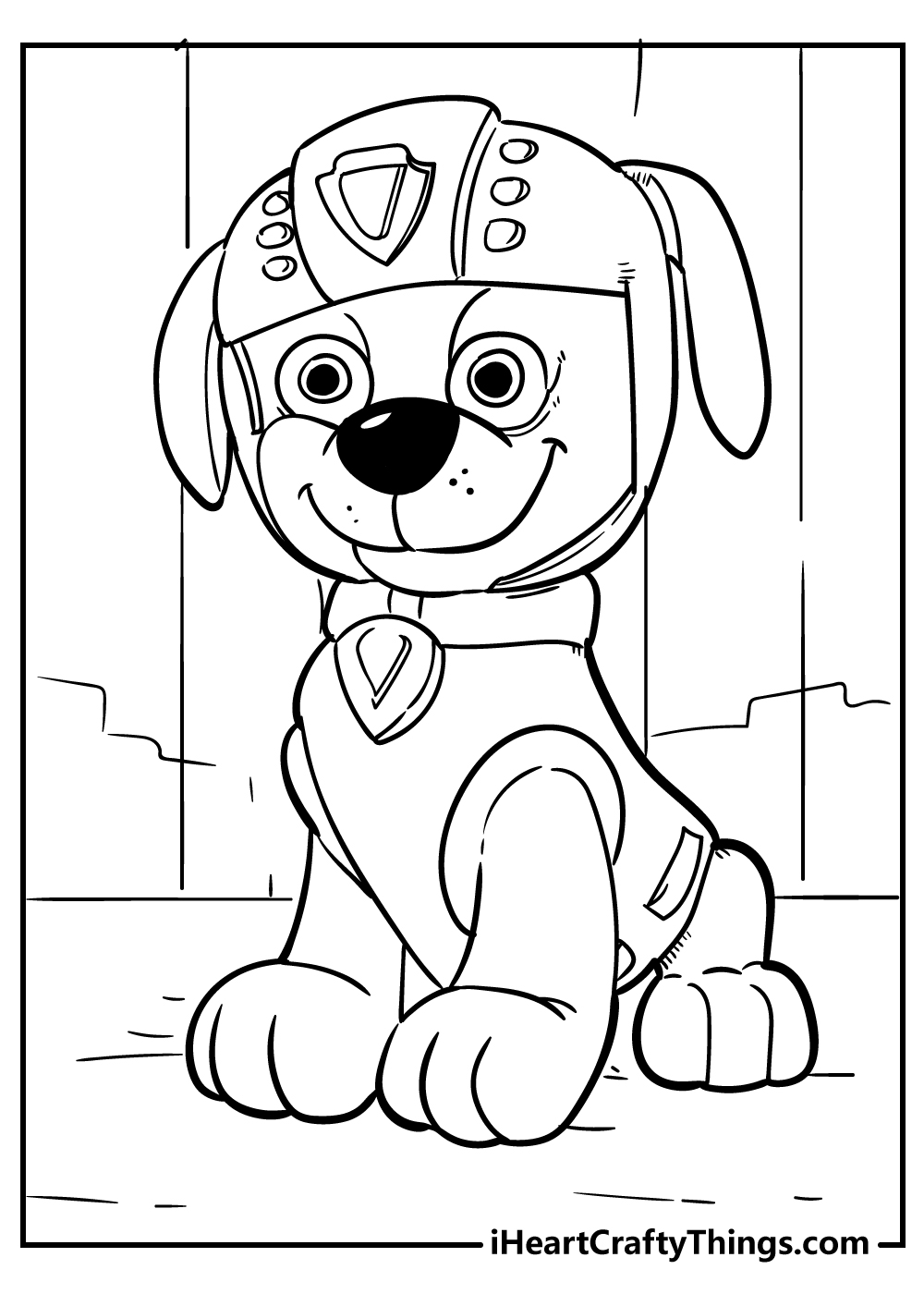 black and white paw patrol colouring pages for kids
