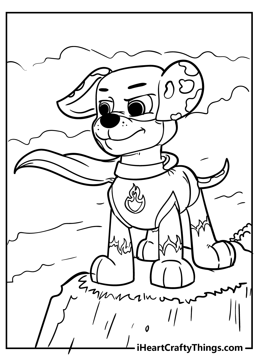 free paw patrol coloring pages for preschoolers