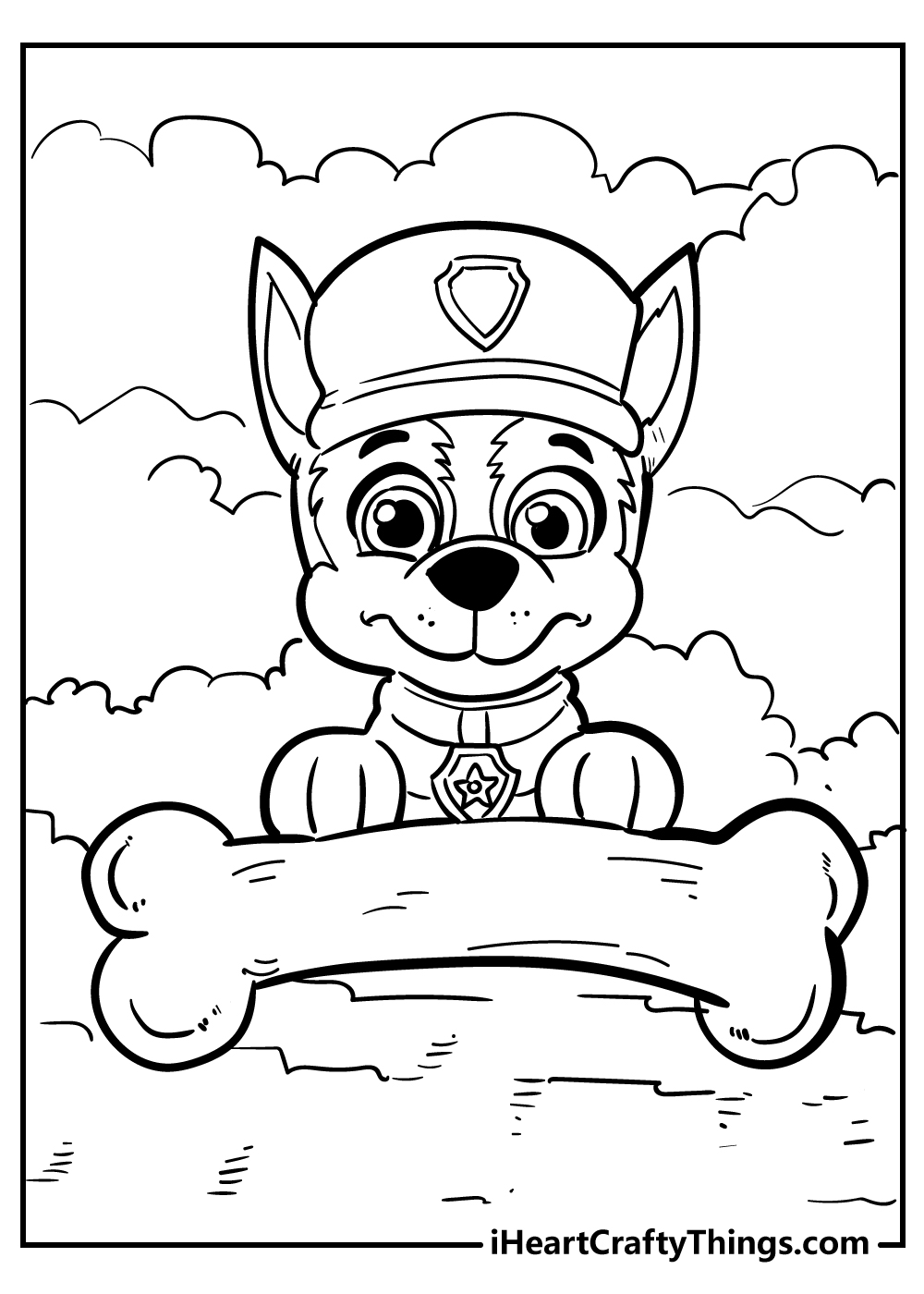 full size paw patrol coloring pages free
