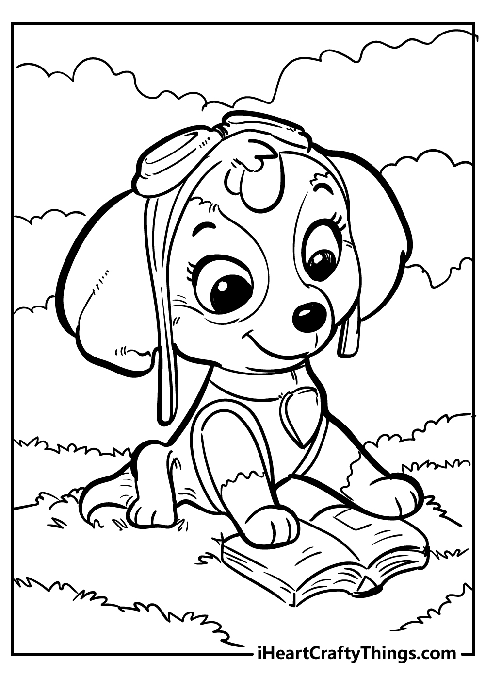 printable skye paw patrol coloring pages