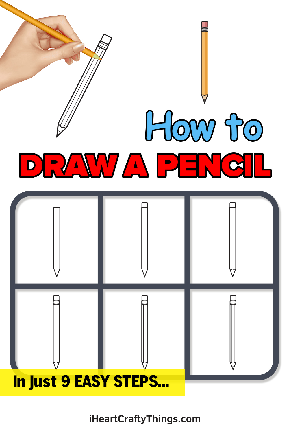 how to draw a pencil in 9 easy steps