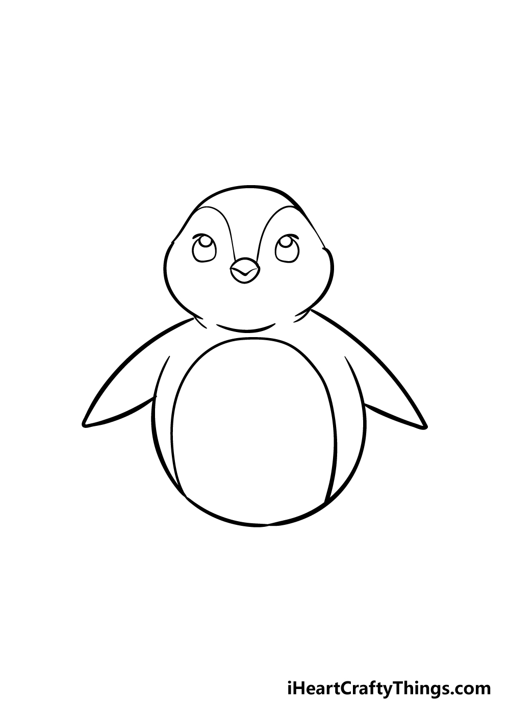 penguin drawing step 4
