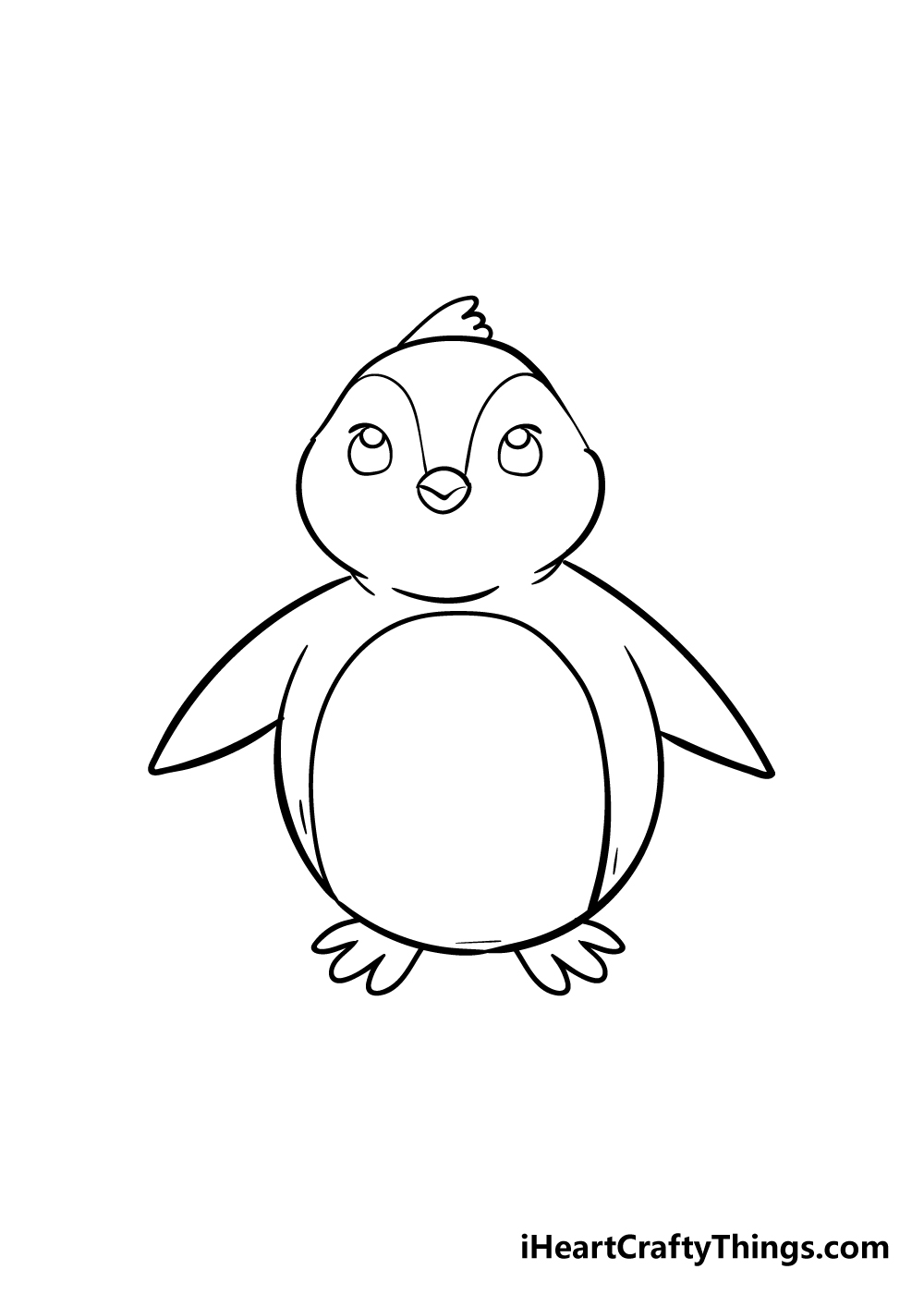 penguin drawing step 6