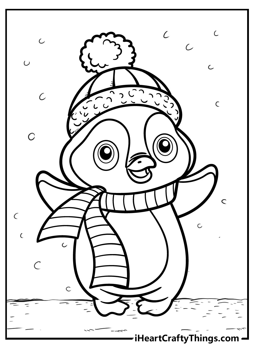 cute penguin colouring pages for kids