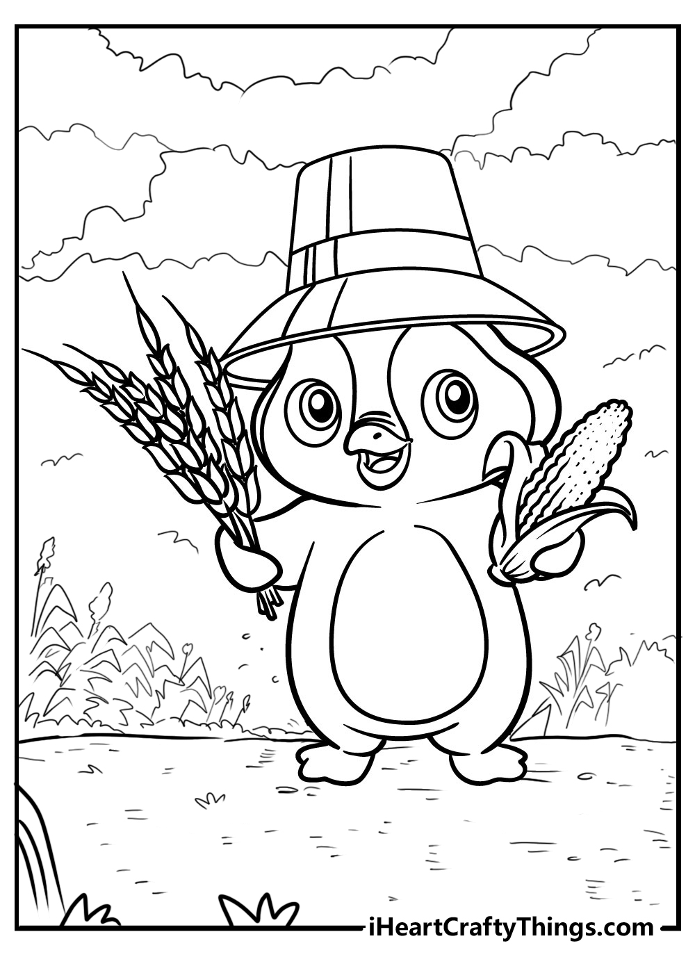 easy penguin coloring pages download pdf