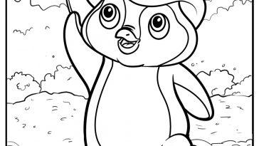 st patrick's penguin coloring image