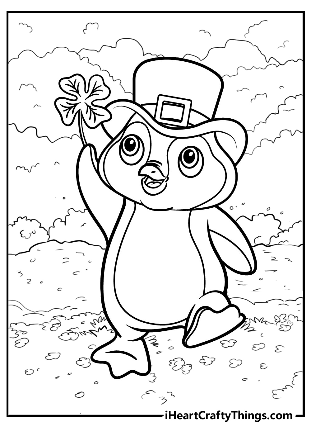 st patrick's penguin coloring pages free download