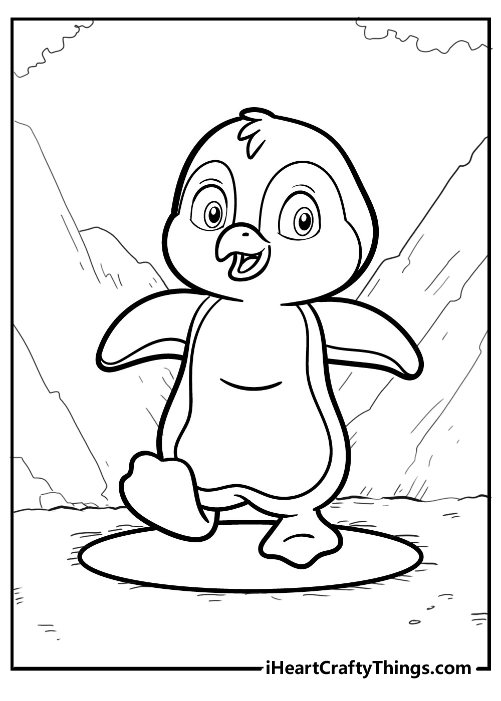 penguin colouring pages for kids