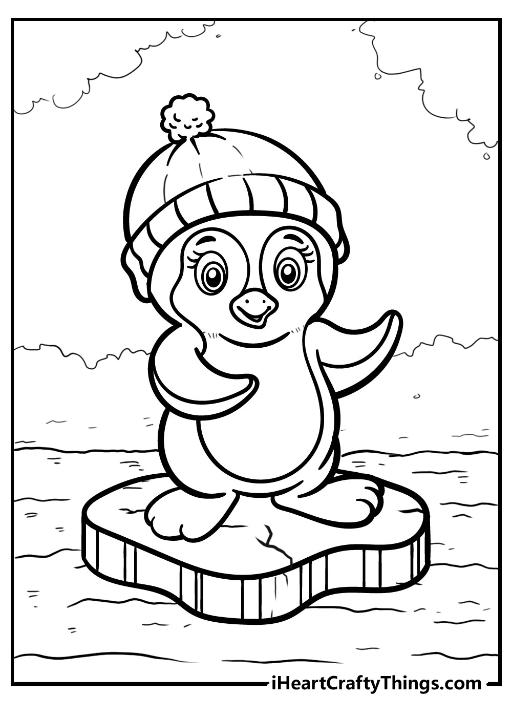 cute penguin coloring pages free printable