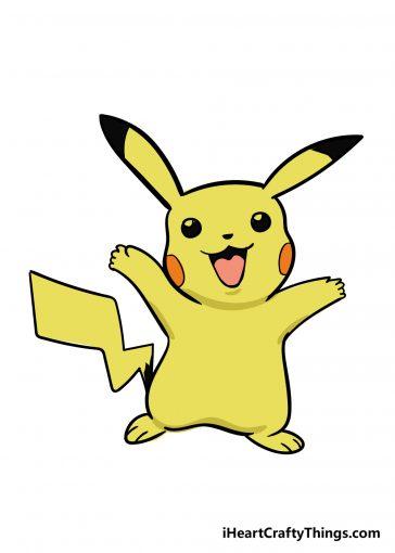 how to draw pikachu image