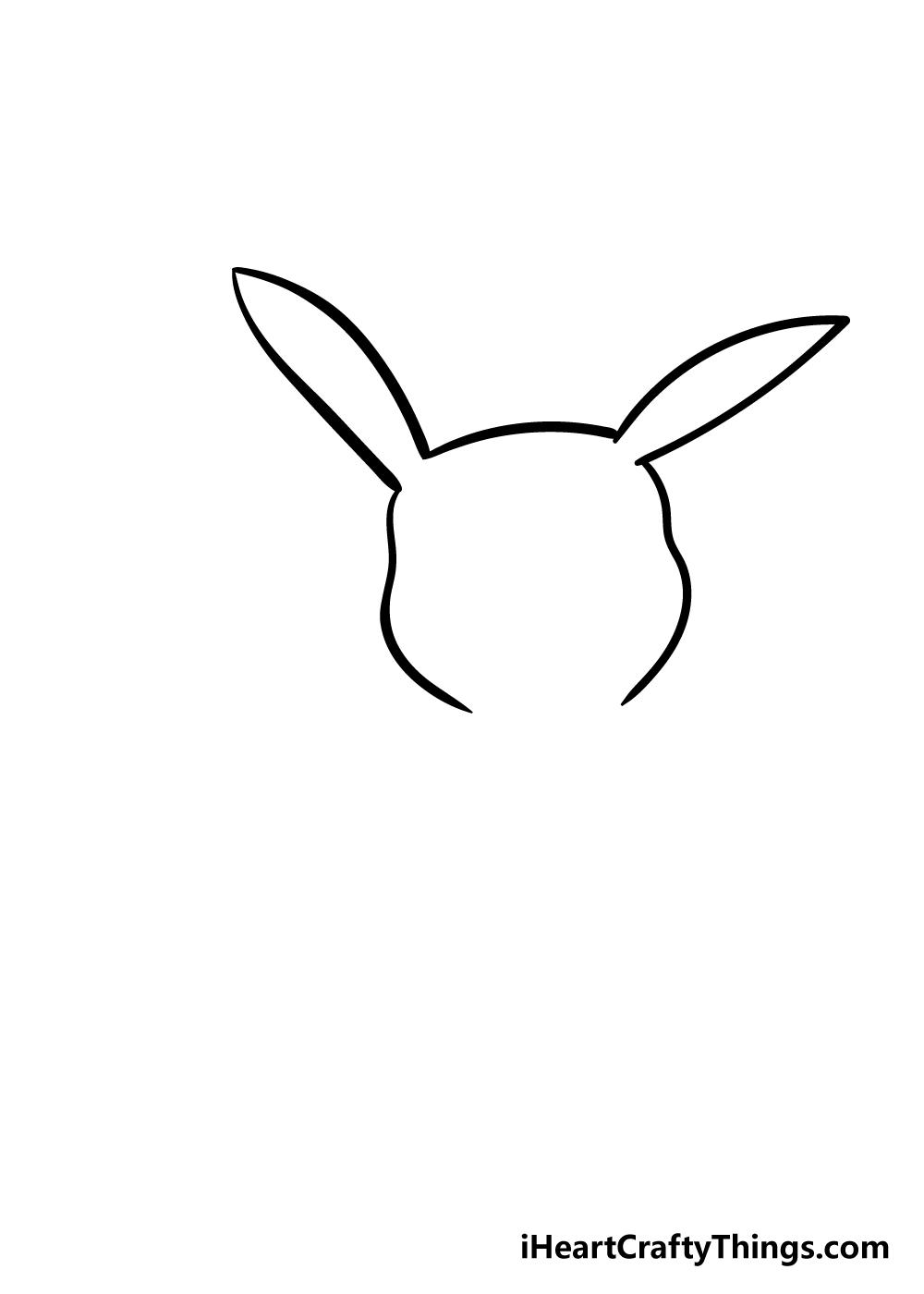 pikachu drawing step 2