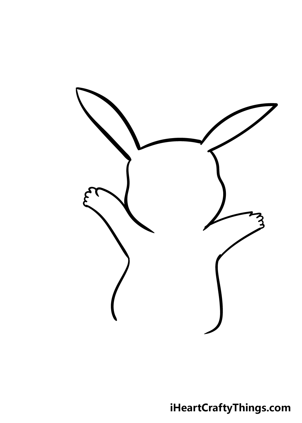 pikachu drawing step 3
