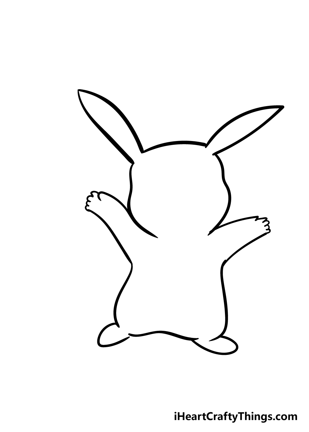 pikachu drawing step 4