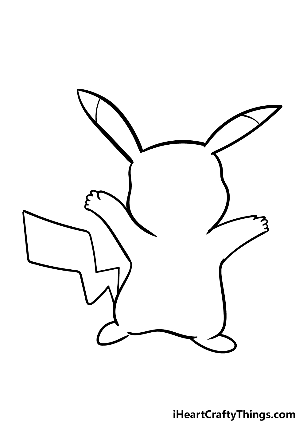 pikachu drawing step 5