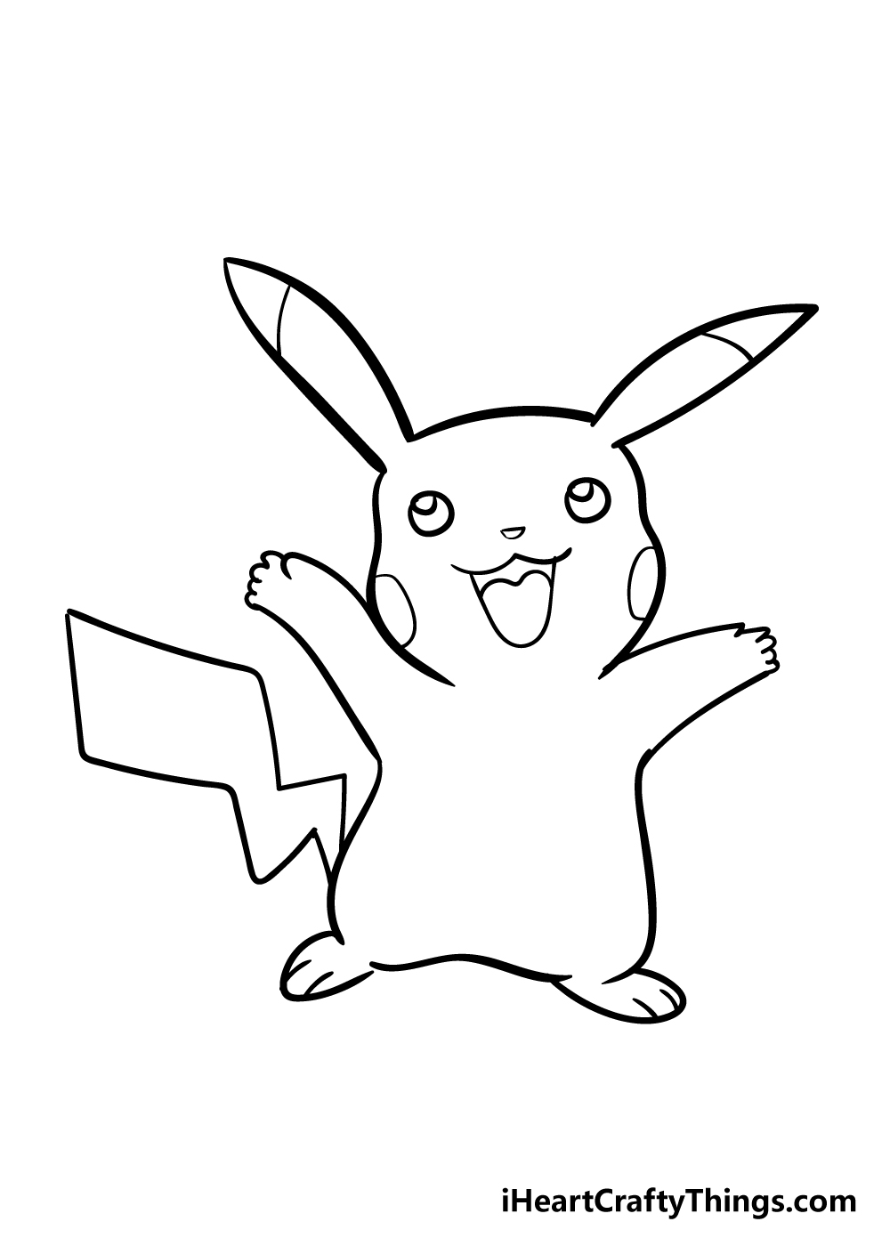 pikachu drawing step 6
