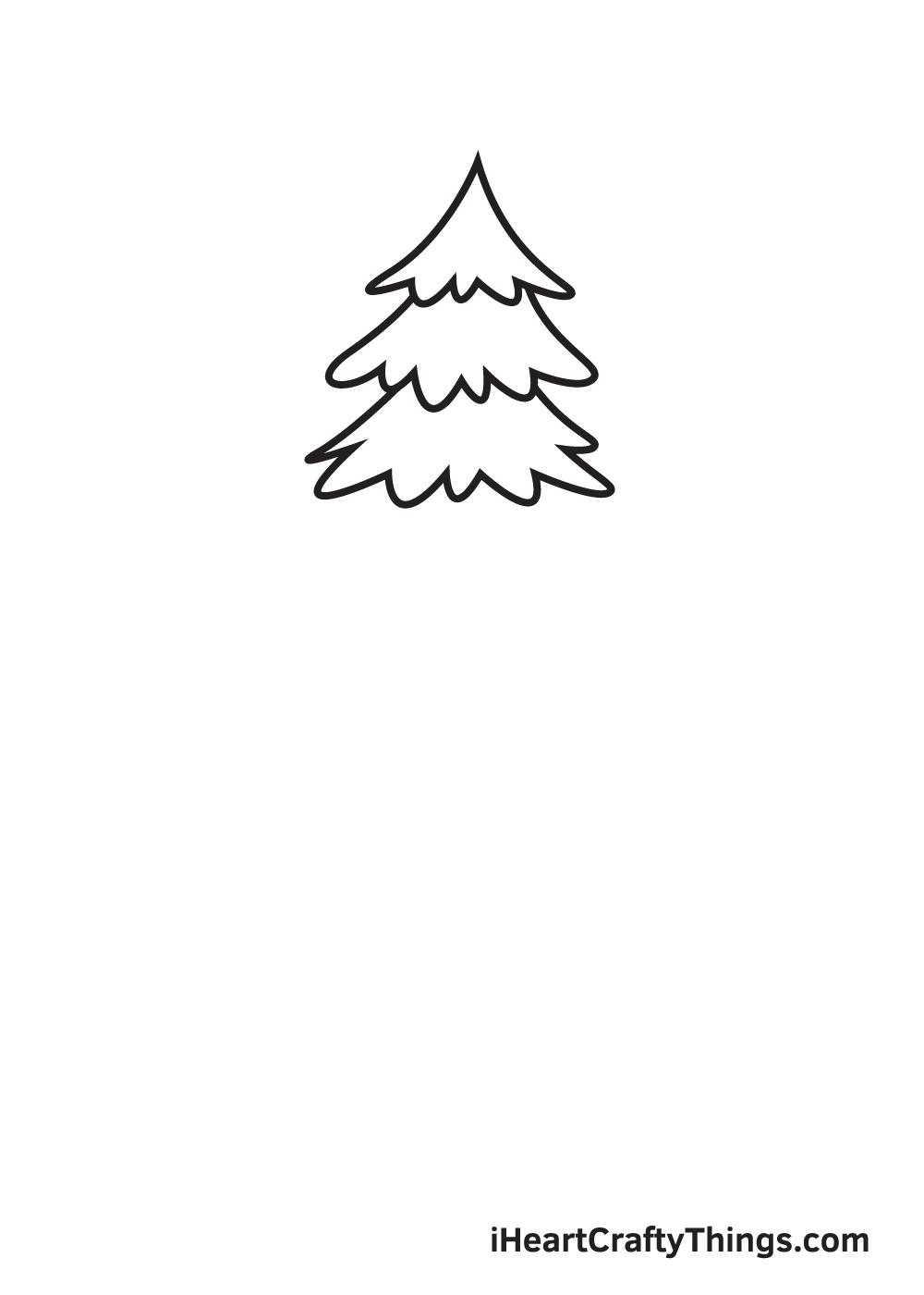 pine tree drawing step 3