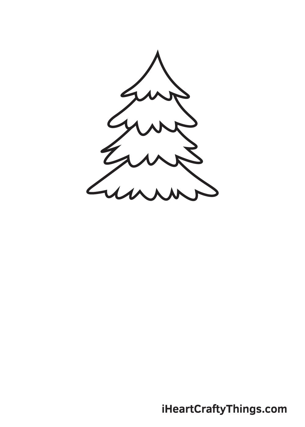 pine tree drawing step 4