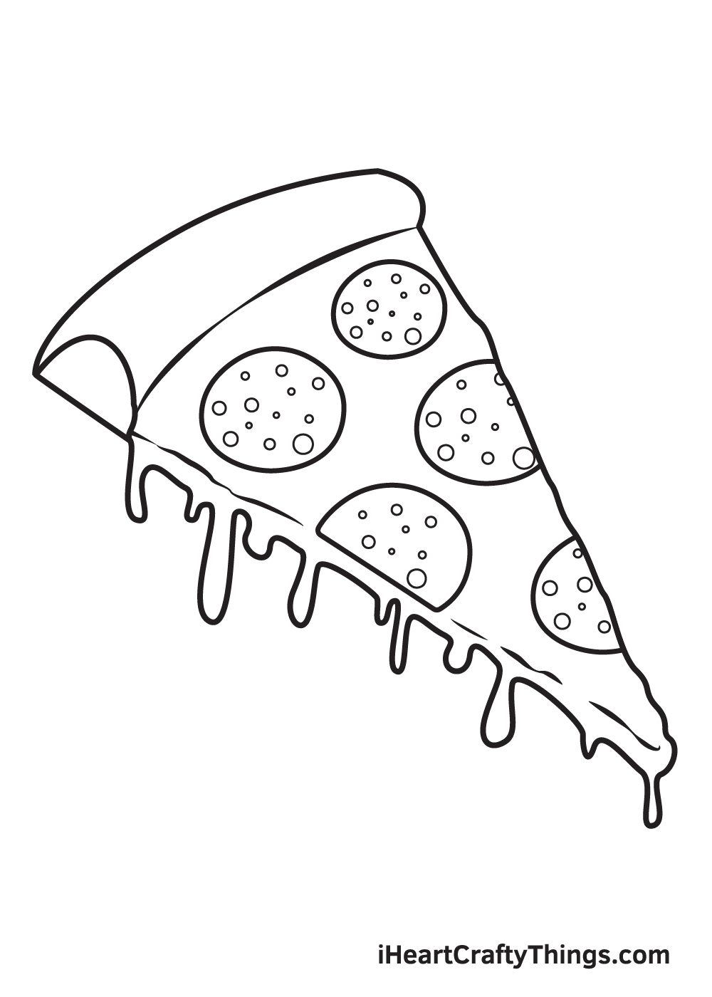 pizza drawing step 8