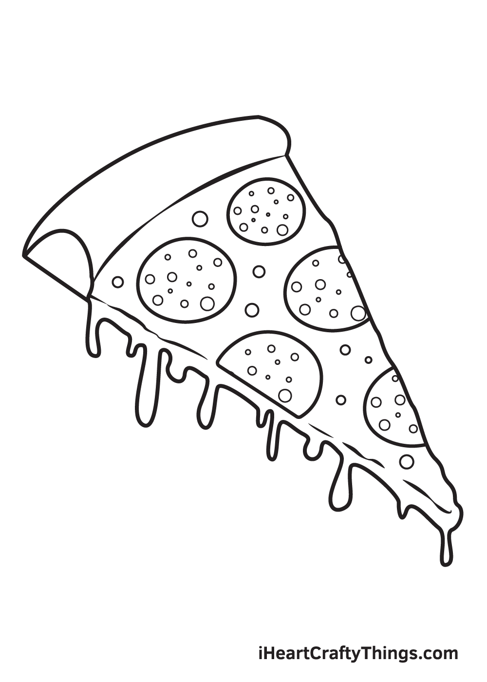 pizza drawing step 9