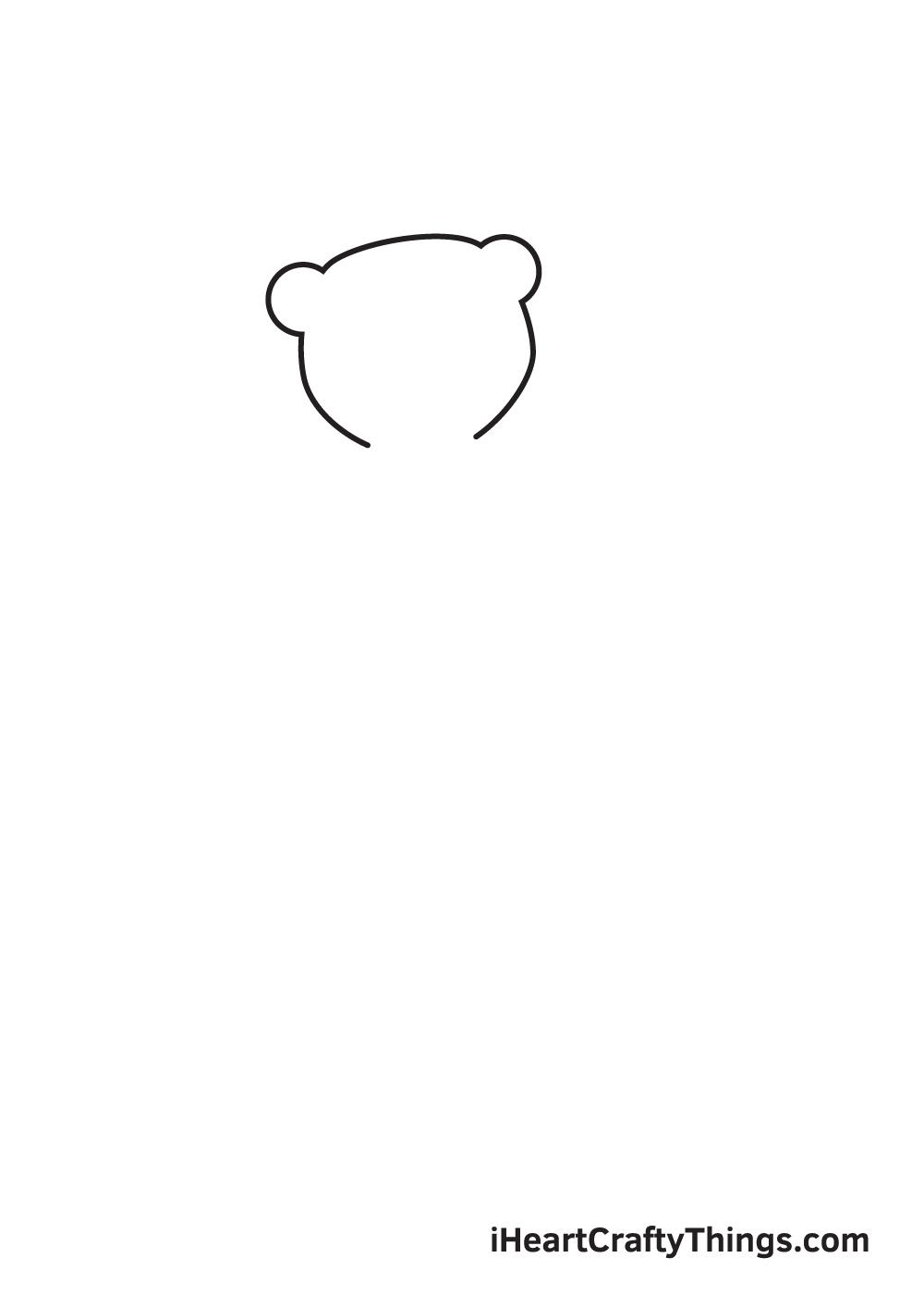 polar bear drawing step 1