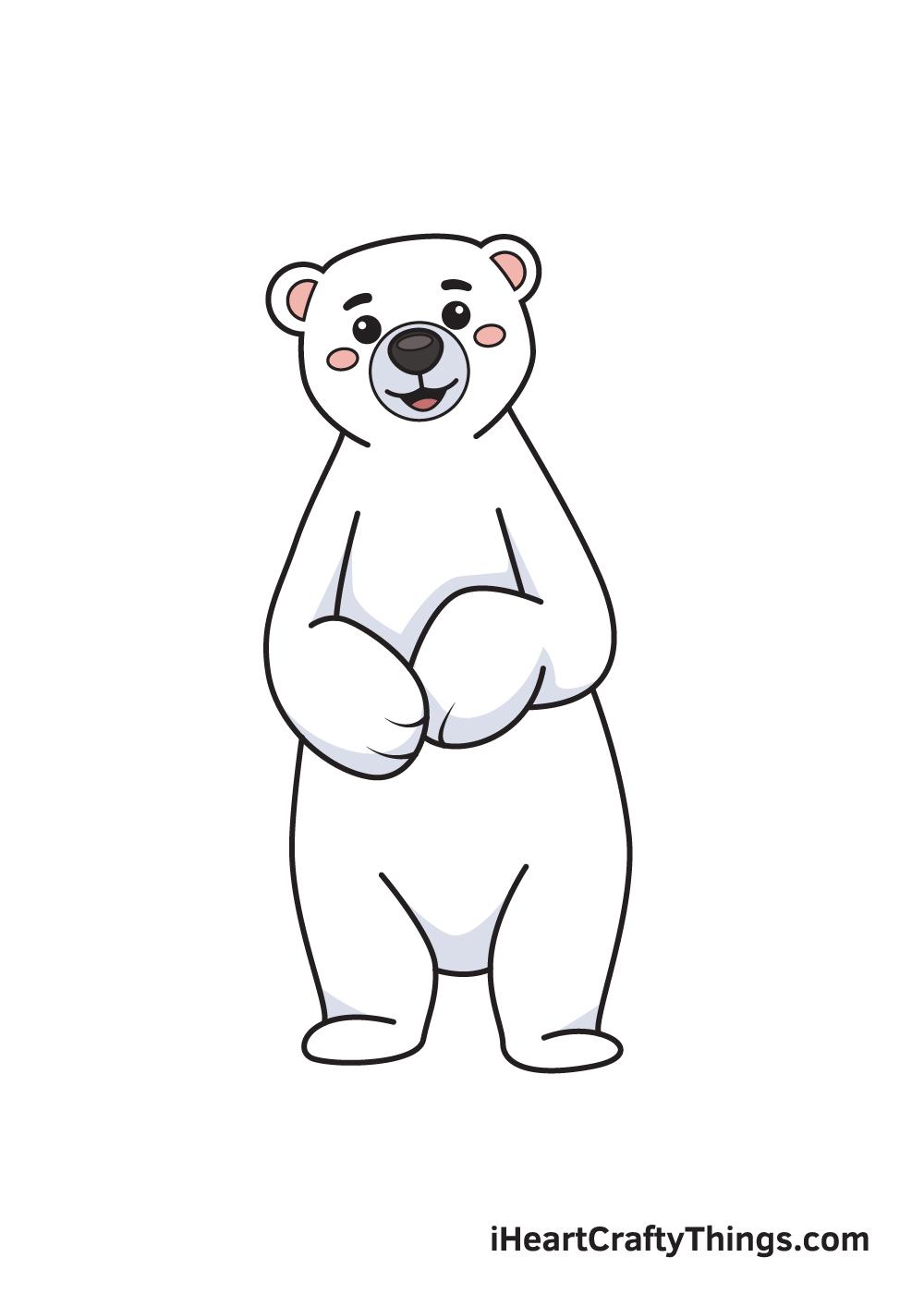 polar bear drawing 9 steps