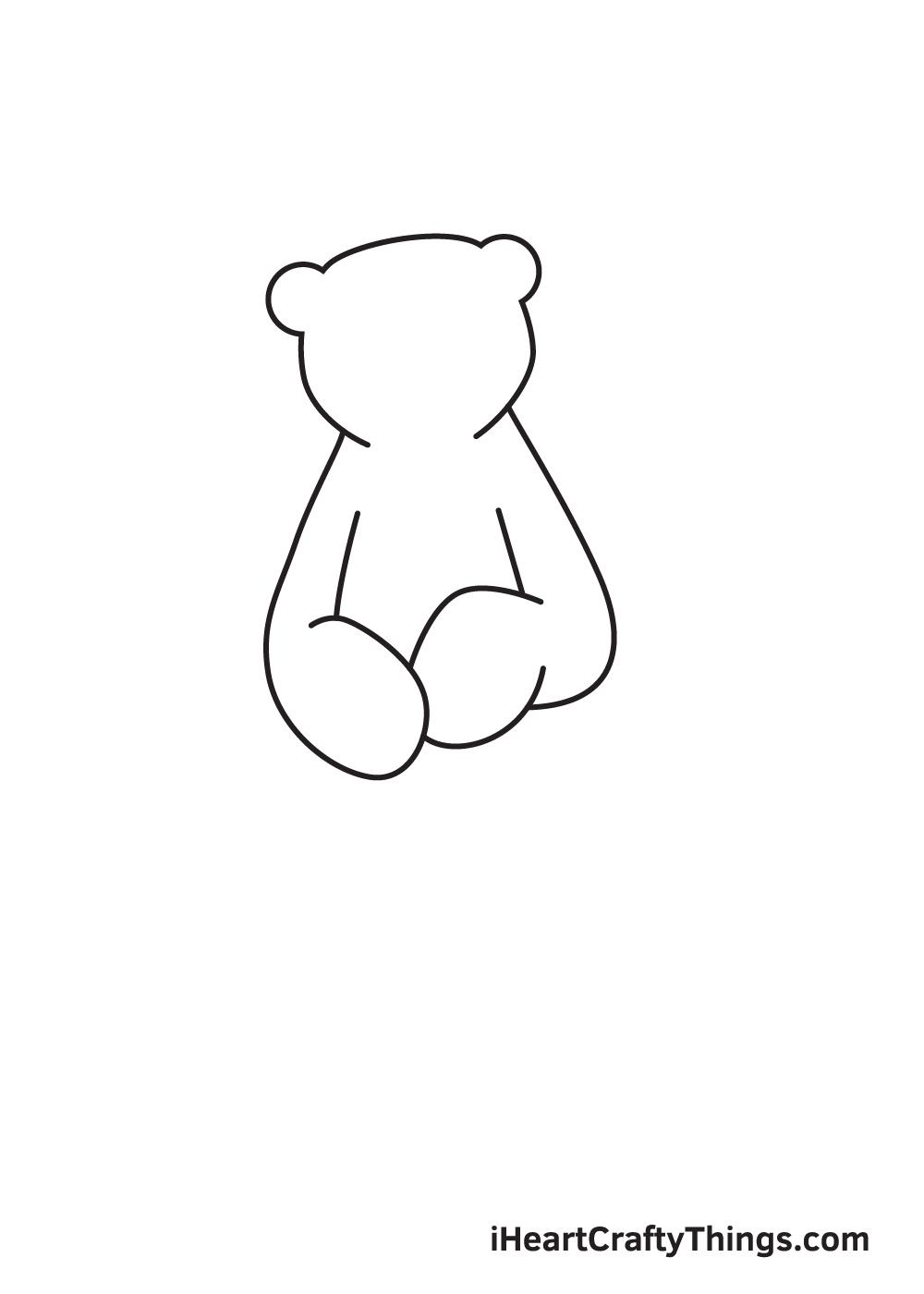 polar bear drawing step 3