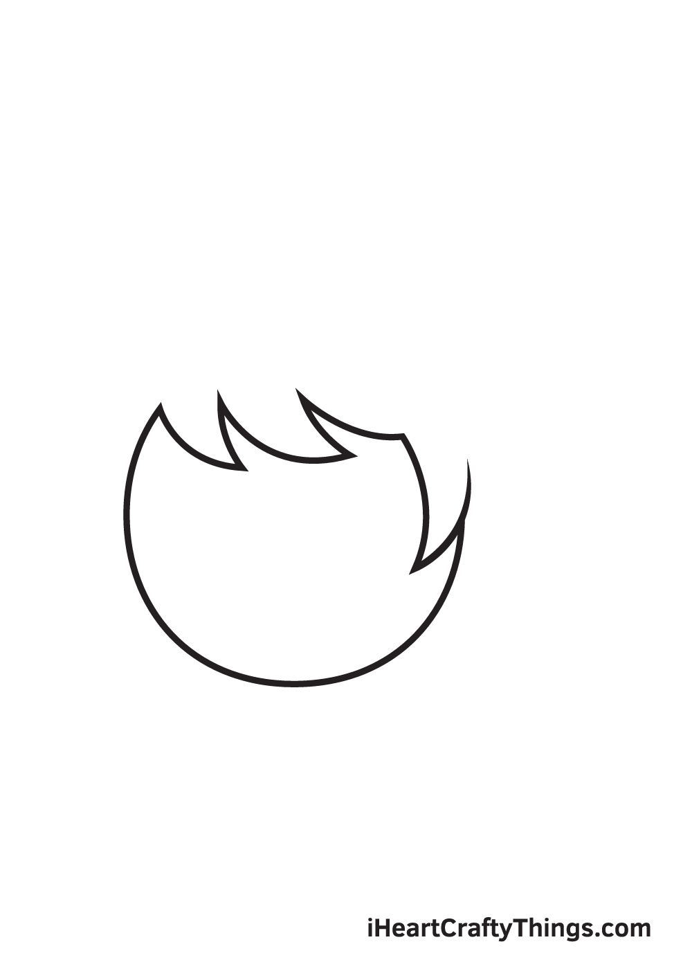 ponytail drawing step 2